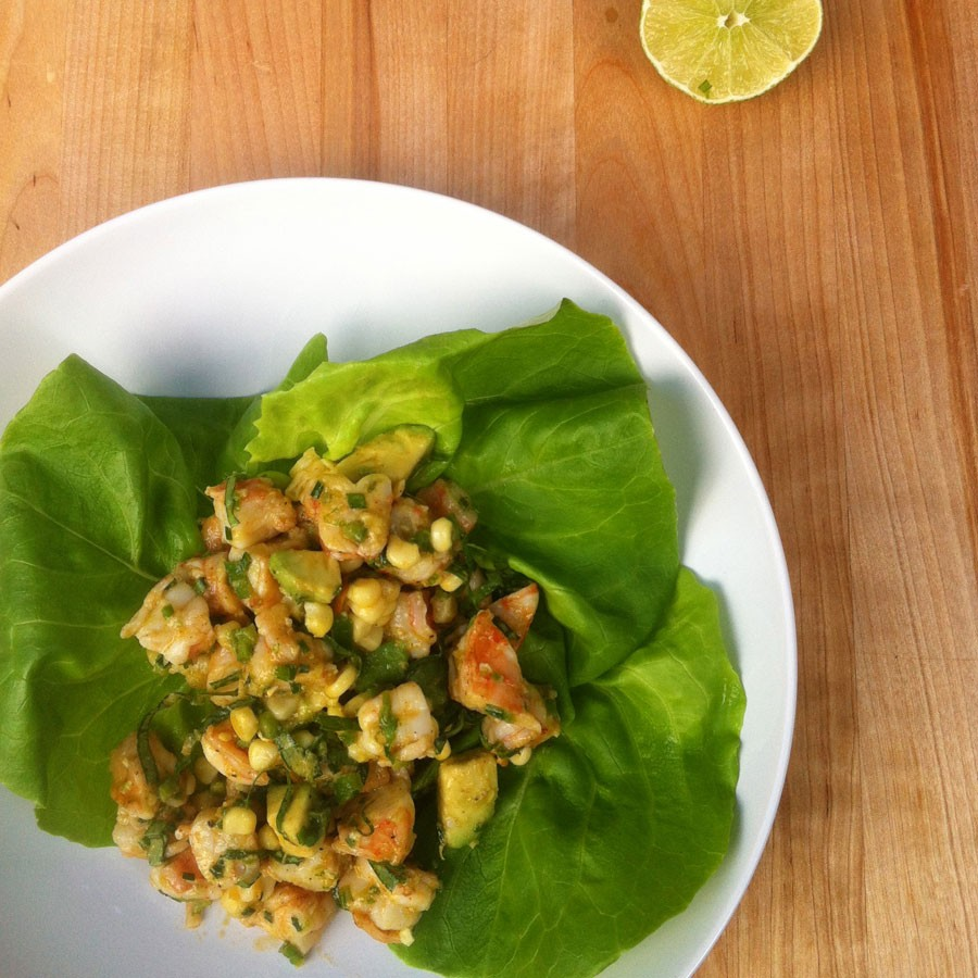 Shrimp and Corn Salad with Lime Dressing