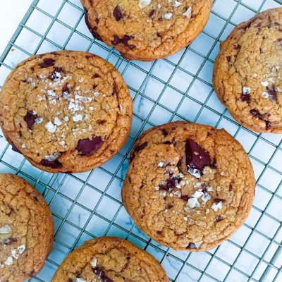 Brown Butter Chocolate Chunk Cookies with Flaky Sea Salt