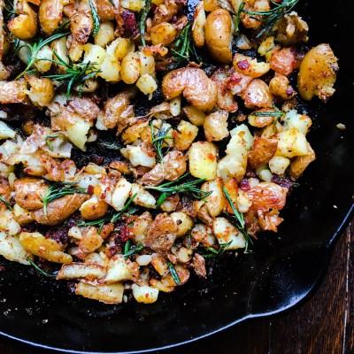 Rosemary and Truffle Smashed Baby Potatoes