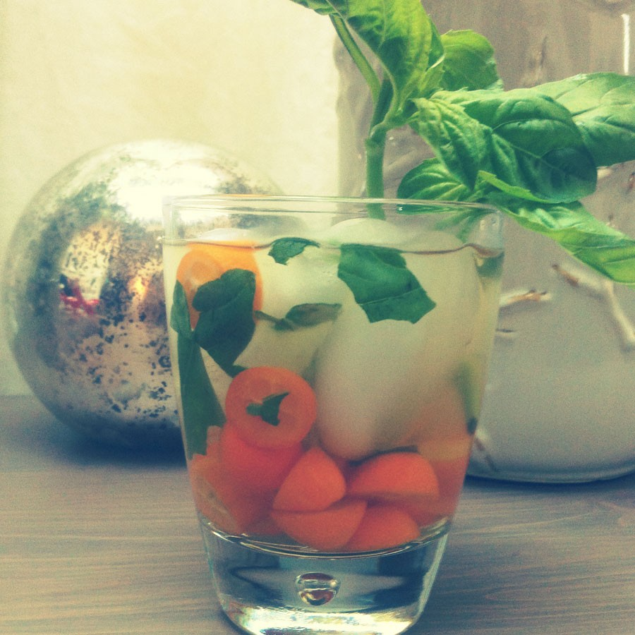 Kumquat and Basil Sangria