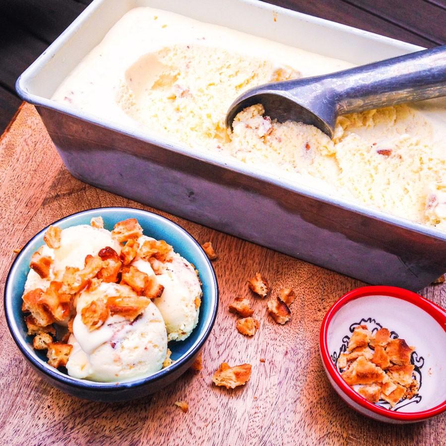 White Chocolate and Waffle Ice Cream