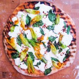 Grilled Pizza with Burrata, Basil and Grilled Tomato Sauce
