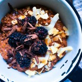 Dark Chocolate and Coconut Cake Oatmeal