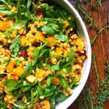 Golden Beet Salad with Arugula, Brown Rice and Dried Cherries