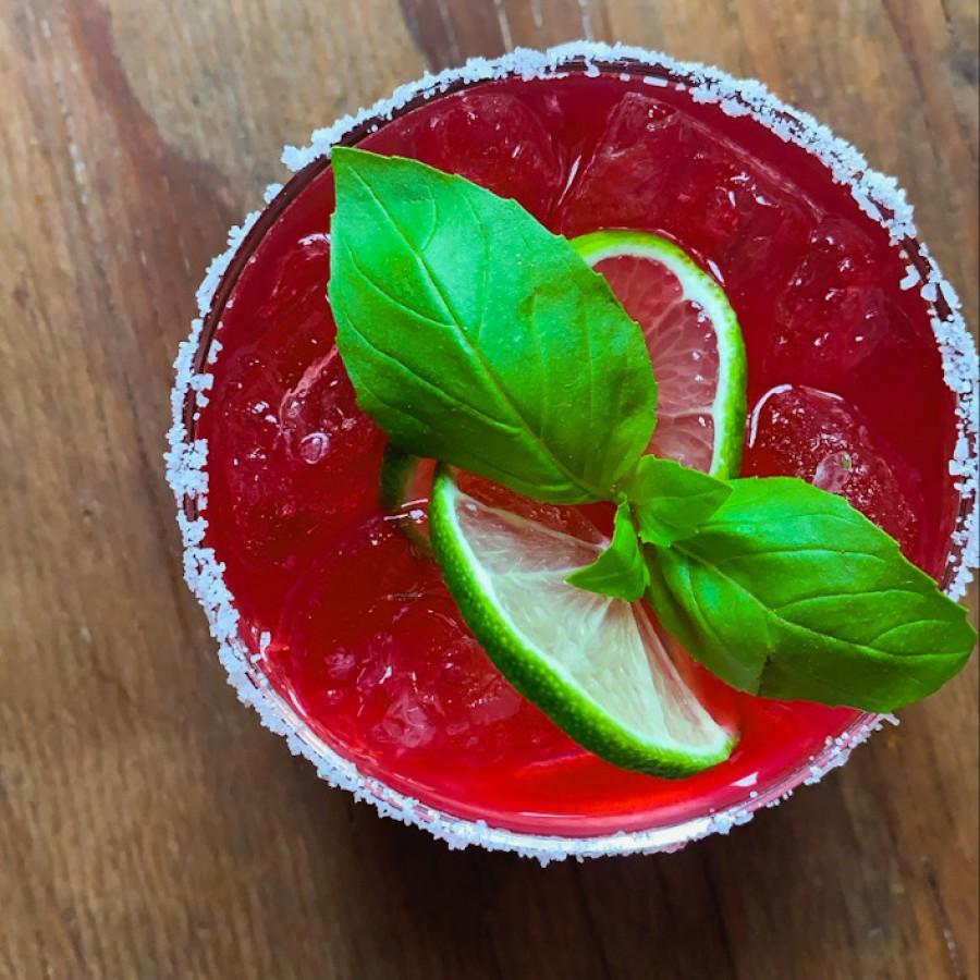 Hibiscus Basil Margarita