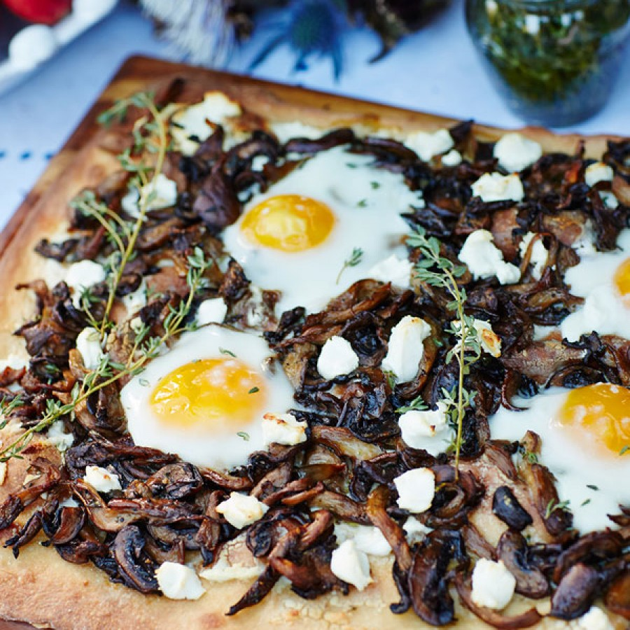 Mixed Mushroom and Thyme Flatbread