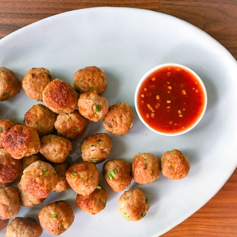 Turkey Meatballs with Ginger and Garlic